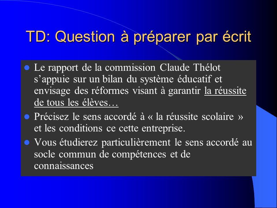 TD: Question à préparer par écrit