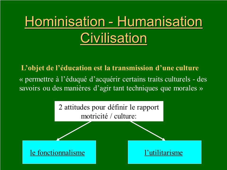 Hominisation - Humanisation Civilisation
