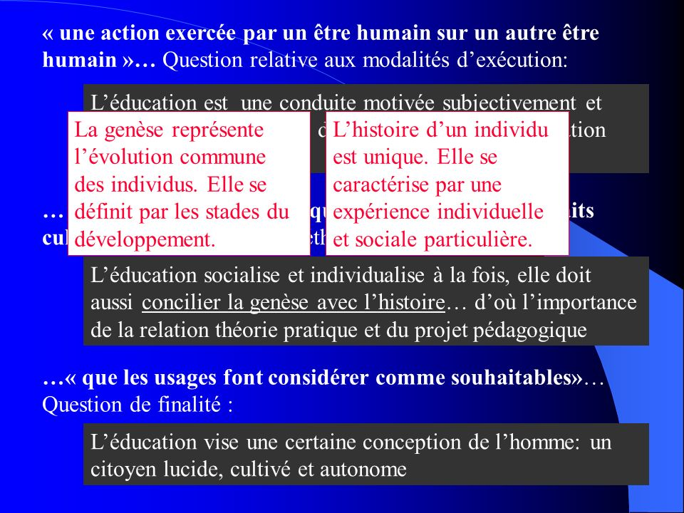 « une action exercée par un être humain sur un autre être humain »… Question relative aux modalités d'exécution: