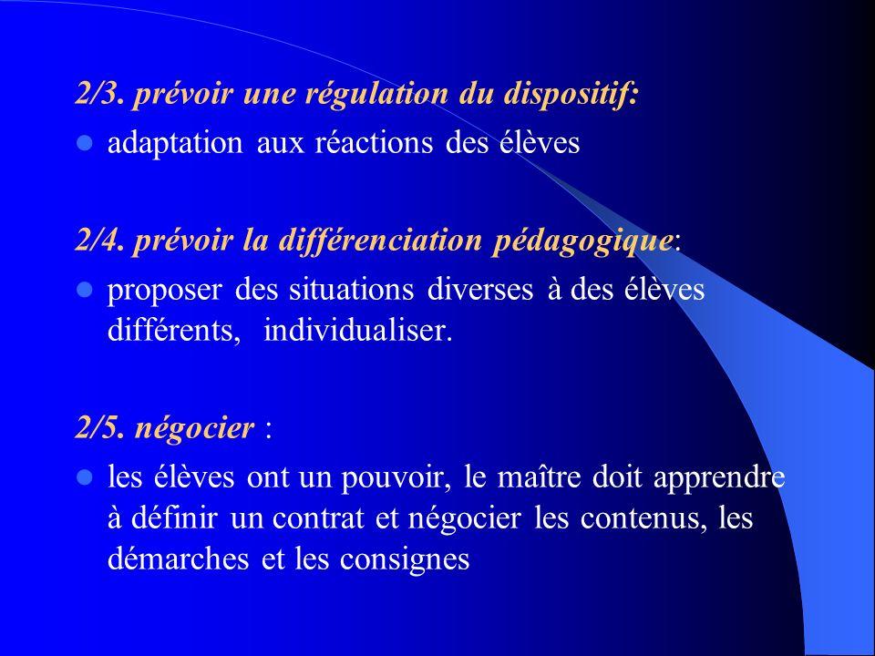2/3. prévoir une régulation du dispositif: