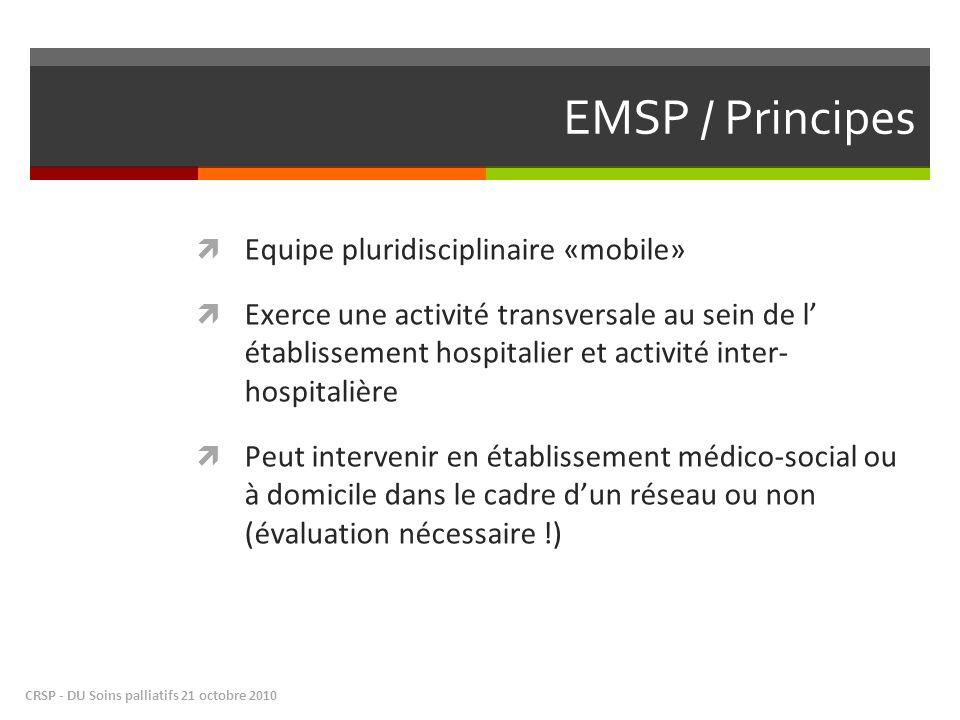 EMSP / Principes Equipe pluridisciplinaire «mobile»
