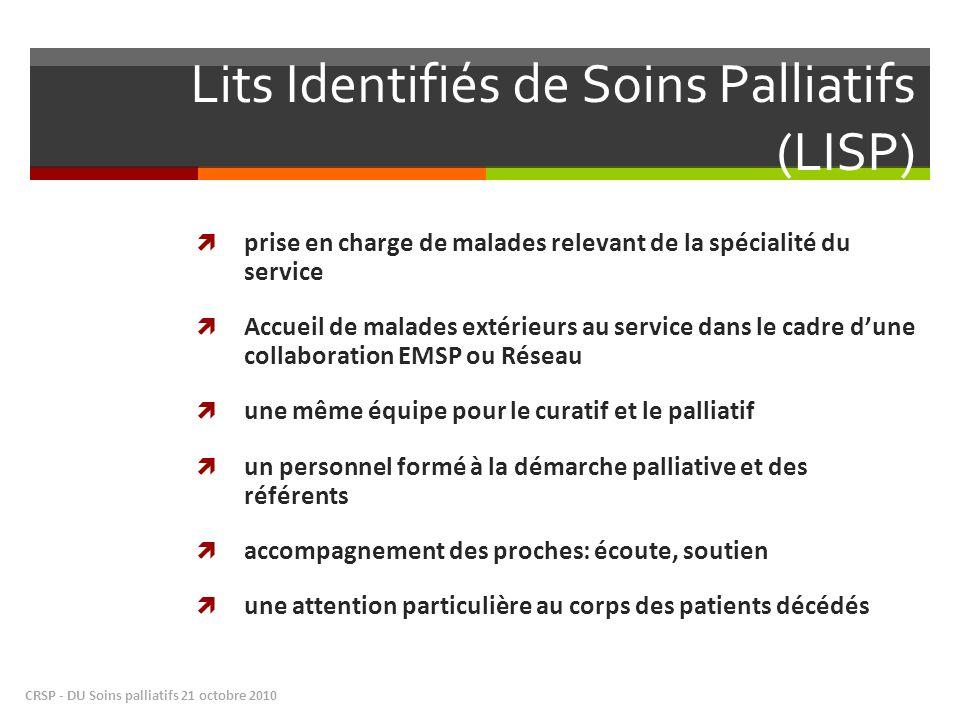 Lits Identifiés de Soins Palliatifs (LISP)