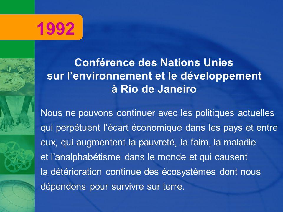 Conférence des Nations Unies sur l'environnement et le développement