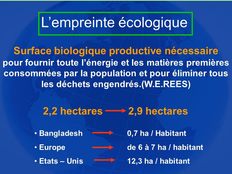 Surface biologique productive nécessaire