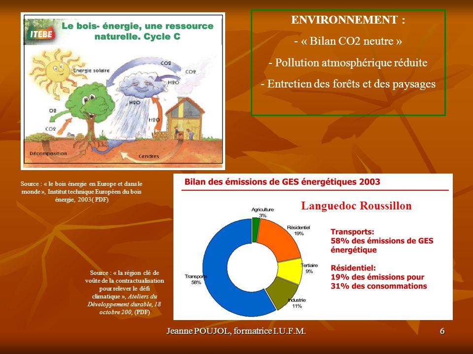 Pollution atmosphérique réduite Entretien des forêts et des paysages