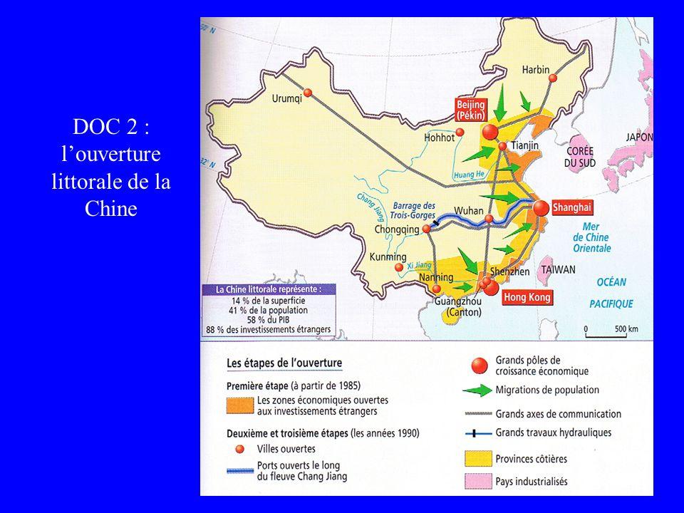 DOC 2 : l'ouverture littorale de la Chine