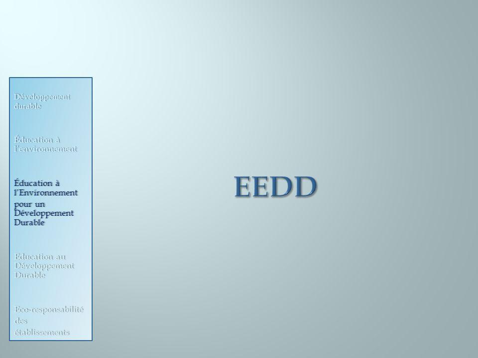 EEDD Développement durable Éducation à l'environnement