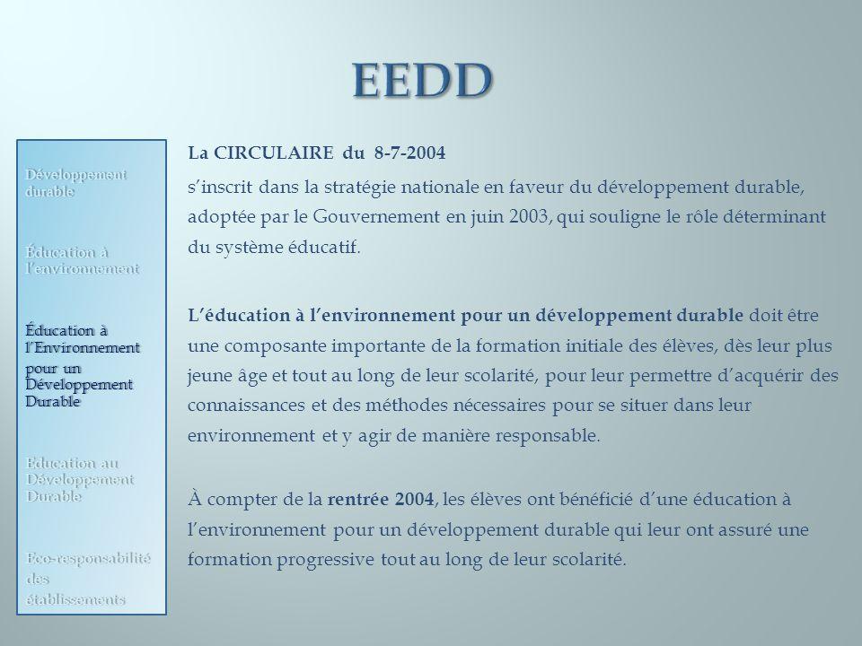 EEDD La CIRCULAIRE du 8-7-2004