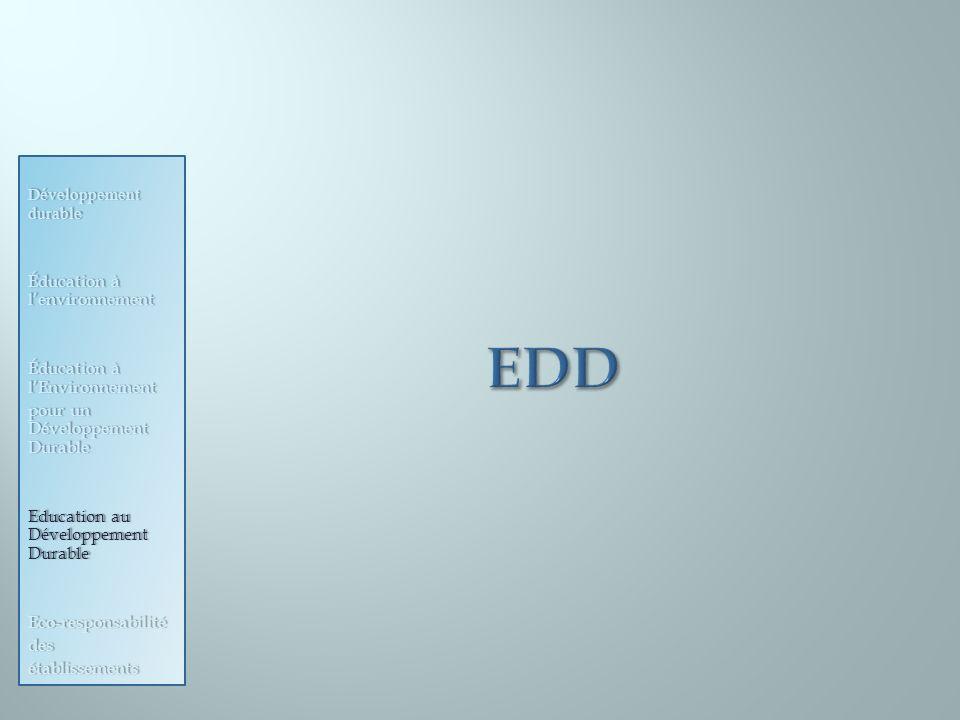 EDD Développement durable Éducation à l'environnement