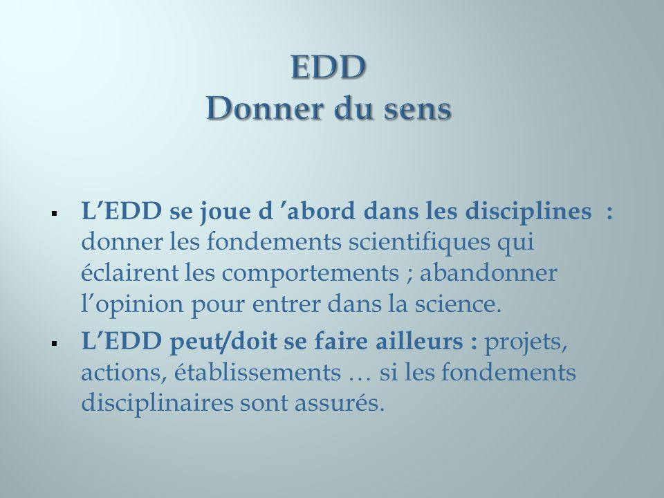EDD Donner du sens