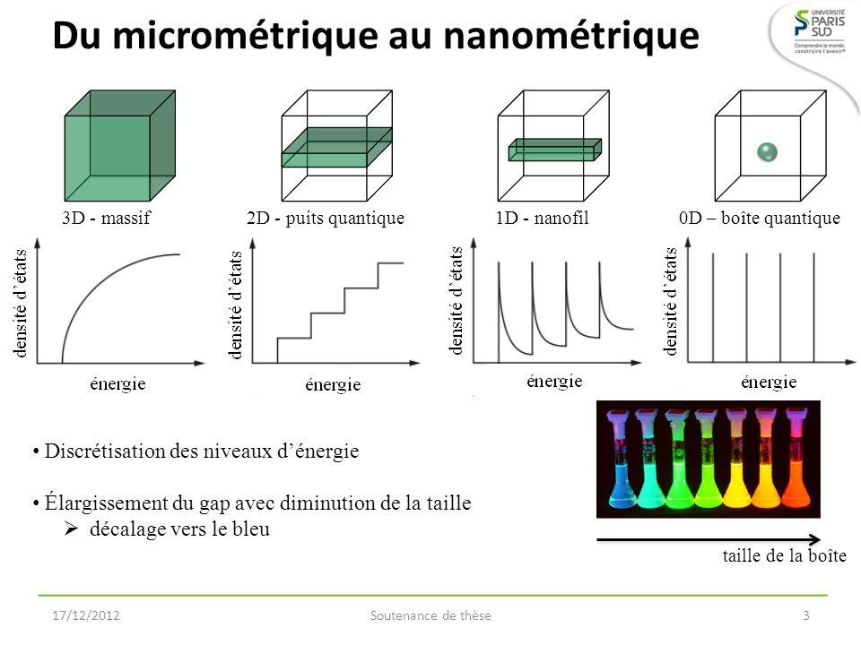 Du micrométrique au nanométrique
