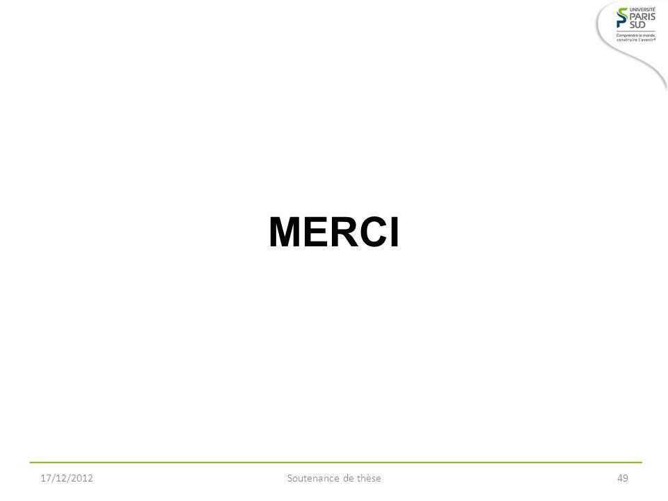 MERCI 17/12/2012 Soutenance de thèse