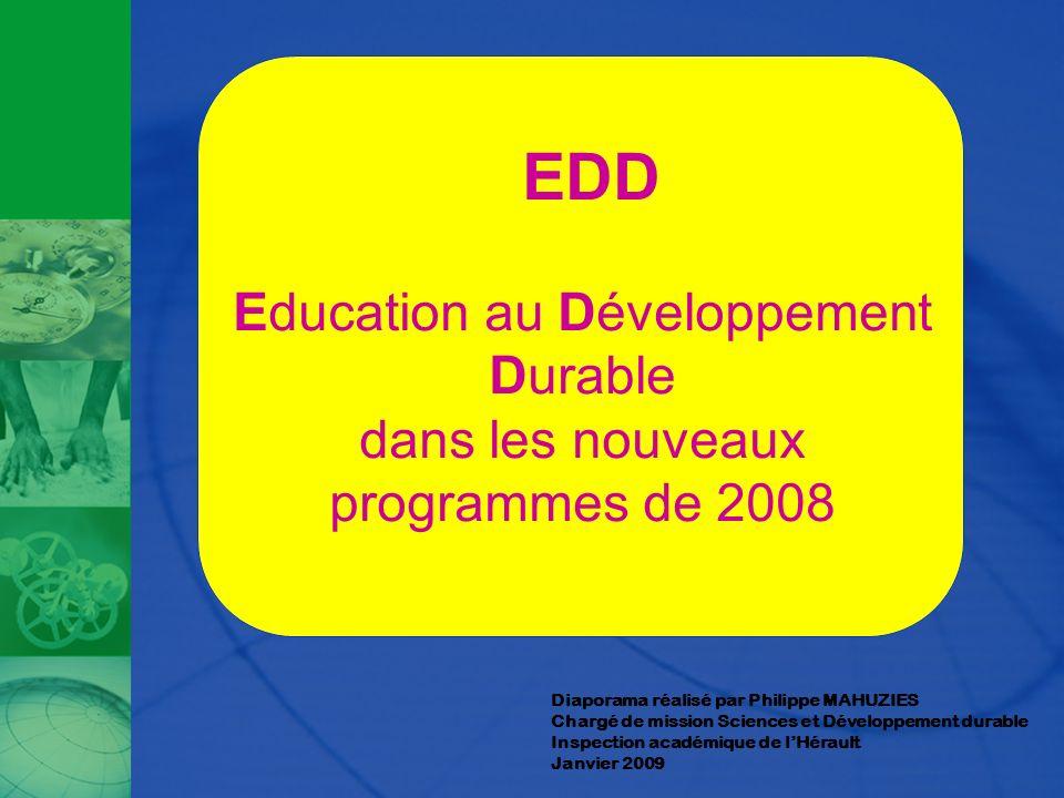 EDD Education au Développement Durable