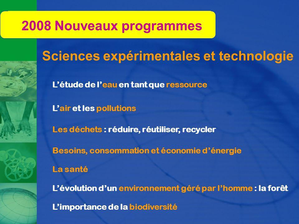 Sciences expérimentales et technologie