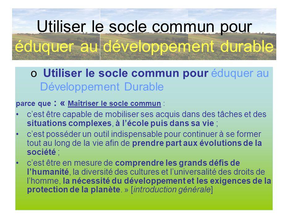 Utiliser le socle commun pour duquer au d veloppement - Plafond livret developpement durable societe generale ...