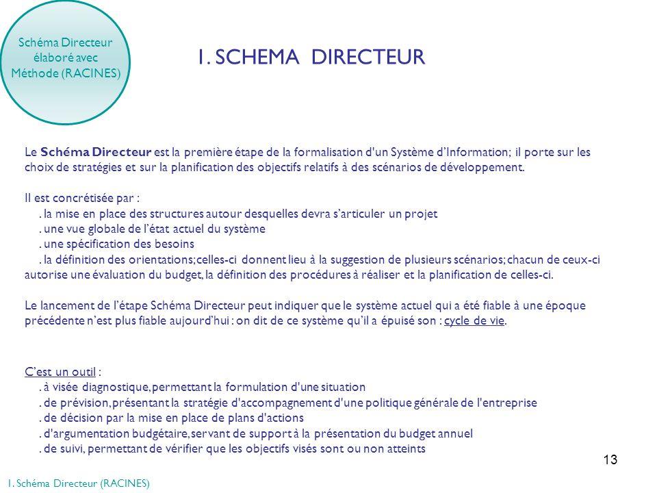 1. SCHEMA DIRECTEUR Schéma Directeur élaboré avec Méthode (RACINES)