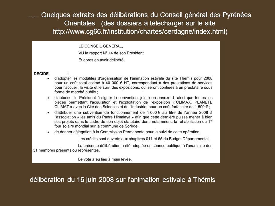 délibération du 16 juin 2008 sur l'animation estivale à Thémis