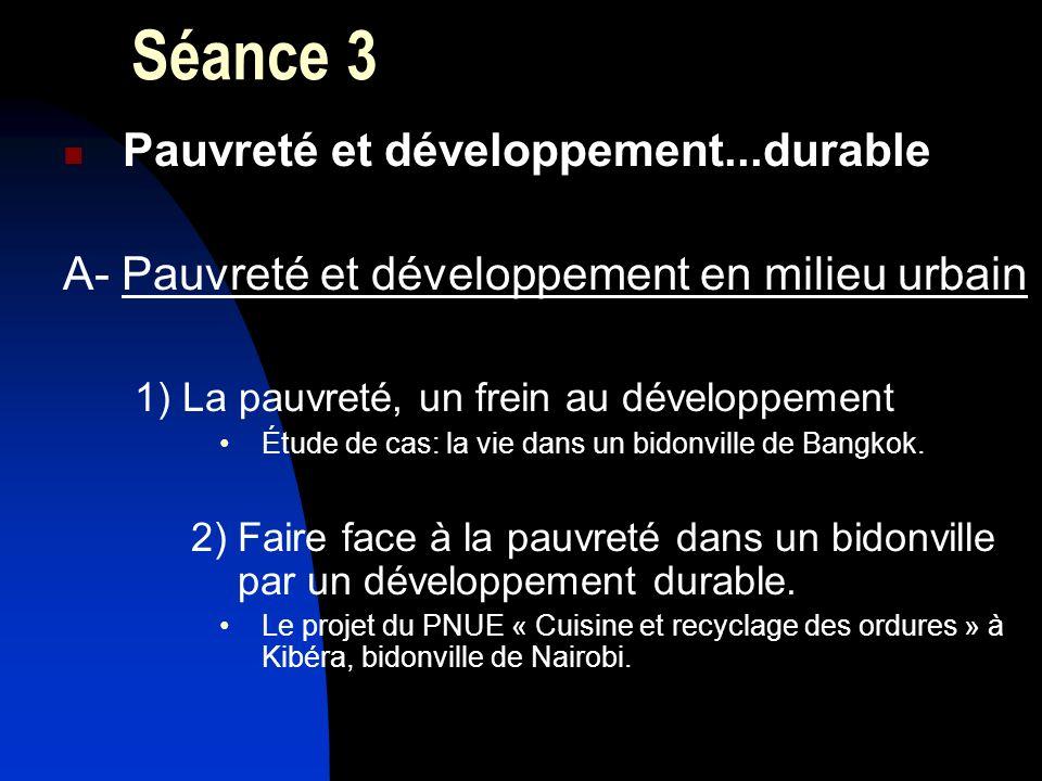 Séance 3 Pauvreté et développement...durable