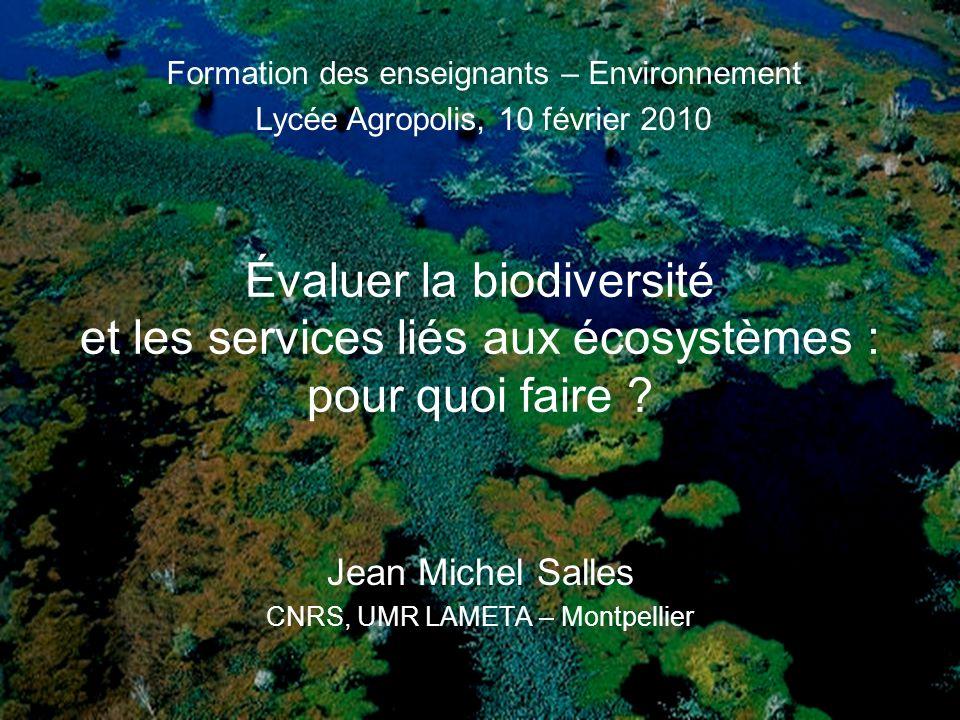 Jean Michel Salles CNRS, UMR LAMETA – Montpellier