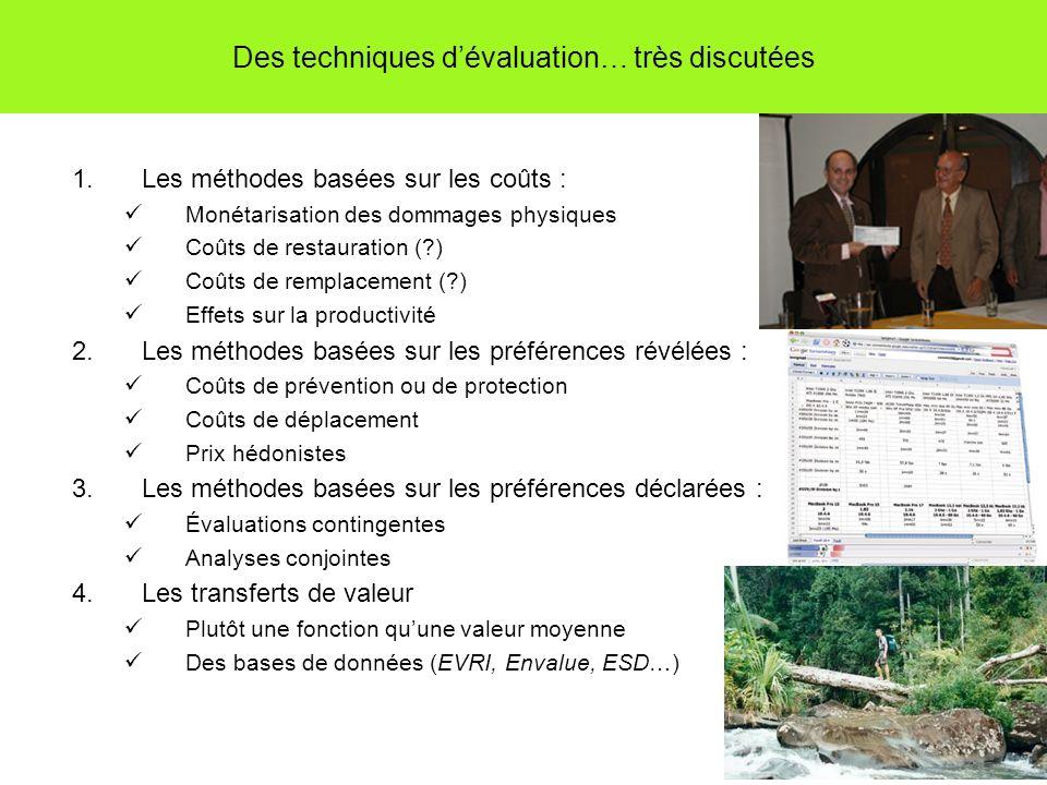 Des techniques d'évaluation… très discutées