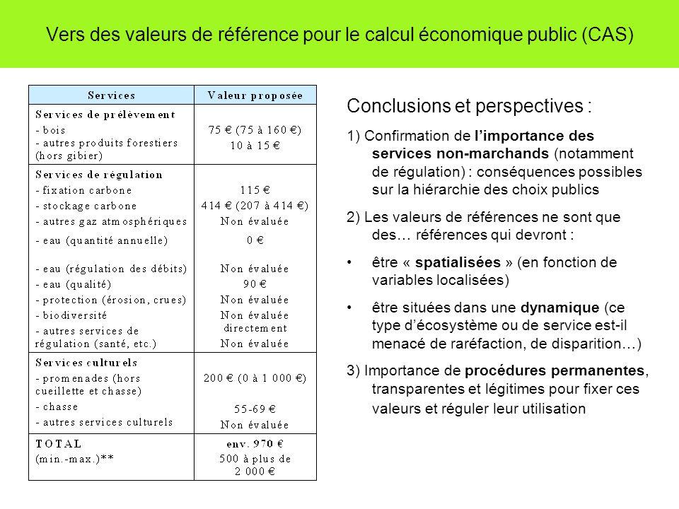 Vers des valeurs de référence pour le calcul économique public (CAS)