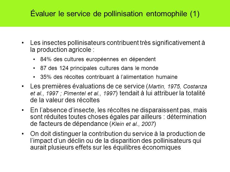 Évaluer le service de pollinisation entomophile (1)