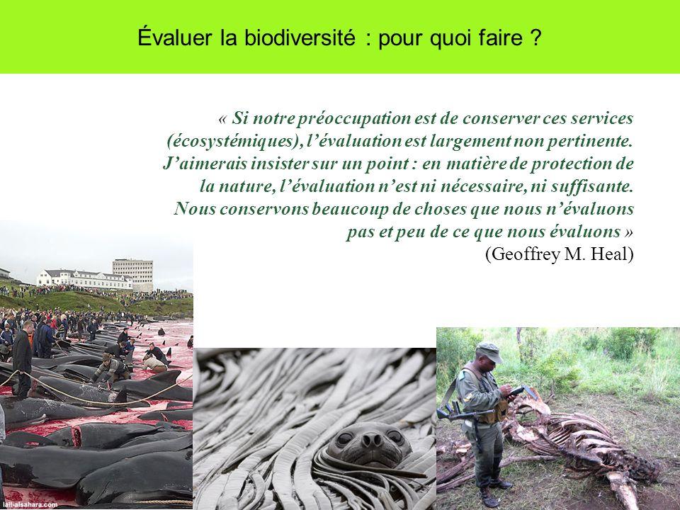 Évaluer la biodiversité : pour quoi faire