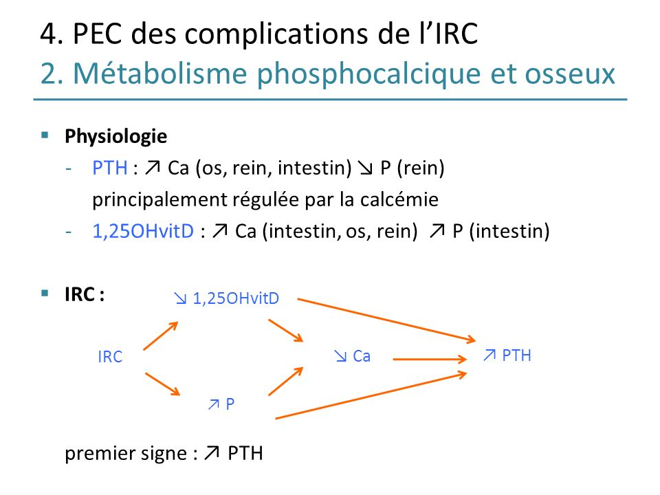 4. PEC des complications de l'IRC 2