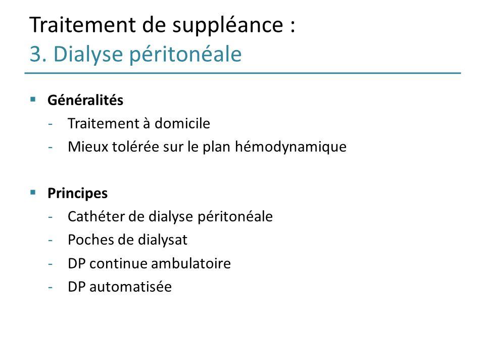 Traitement de suppléance : 3. Dialyse péritonéale