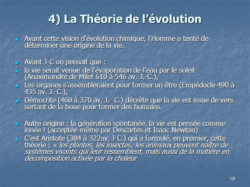 4) La Théorie de l'évolution