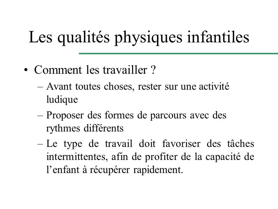 Les qualités physiques infantiles