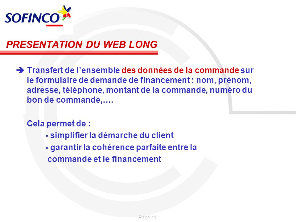 PRESENTATION DU WEB LONG