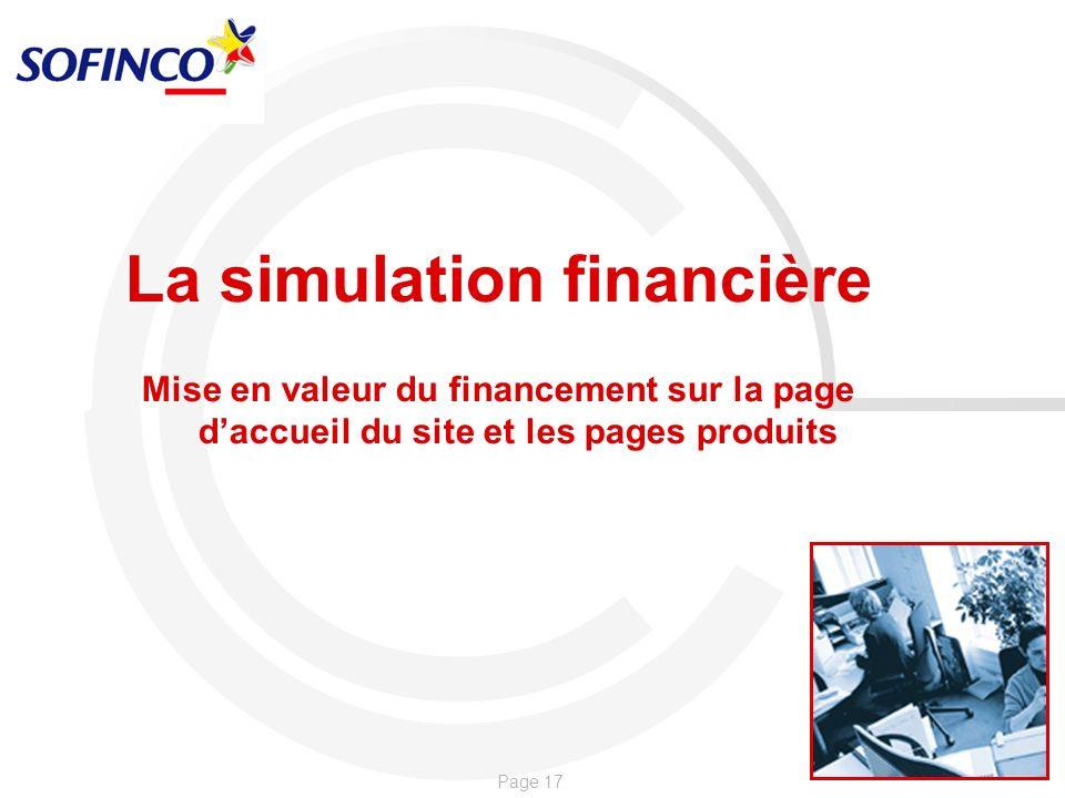 La simulation financière