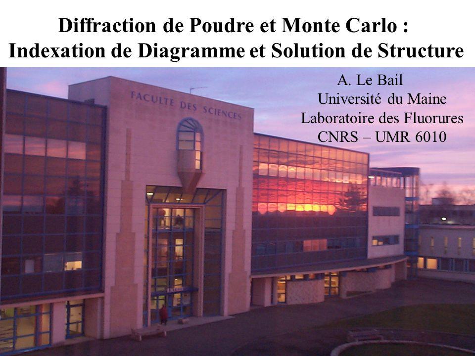 Diffraction de Poudre et Monte Carlo :