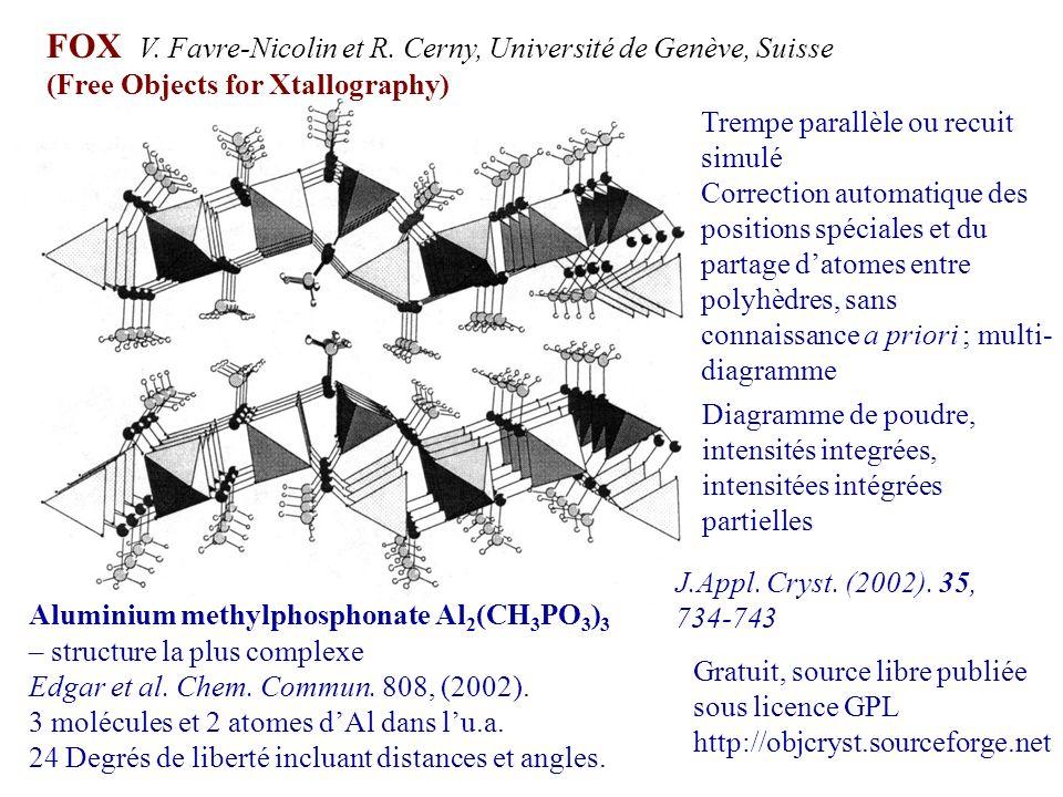 FOX V. Favre-Nicolin et R. Cerny, Université de Genève, Suisse
