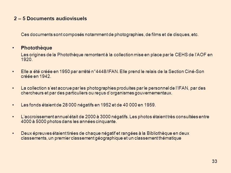 2 – 5 Documents audiovisuels