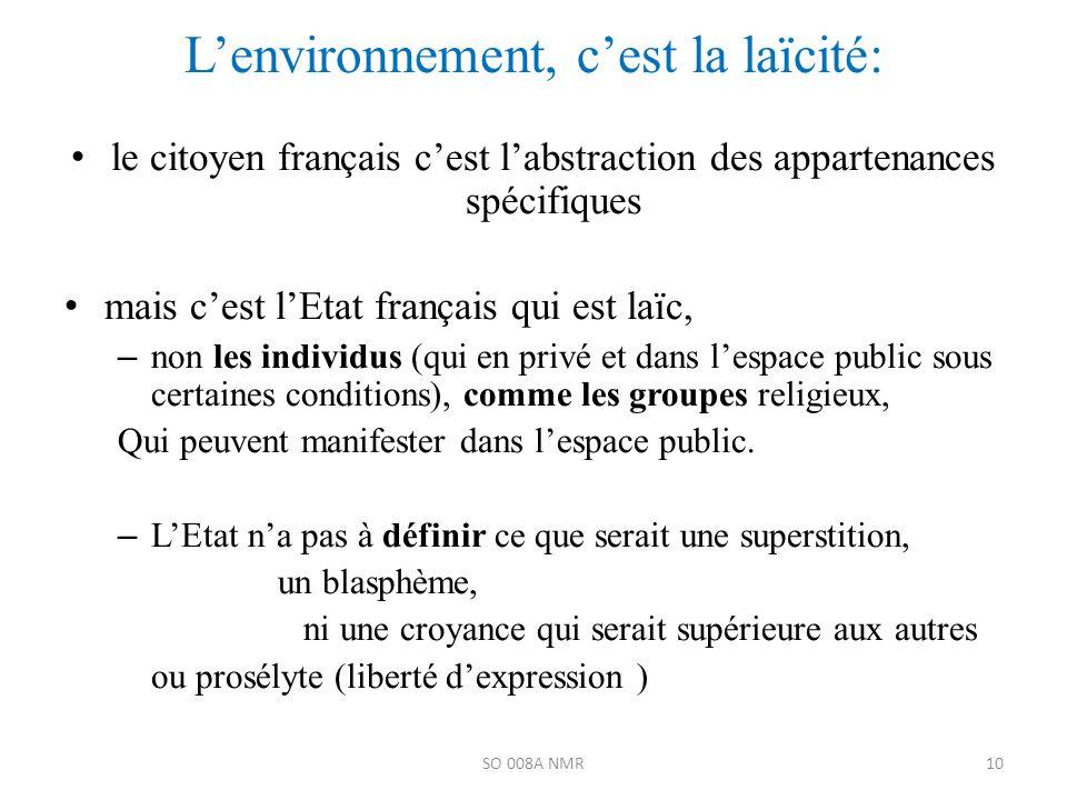 L'environnement, c'est la laïcité: