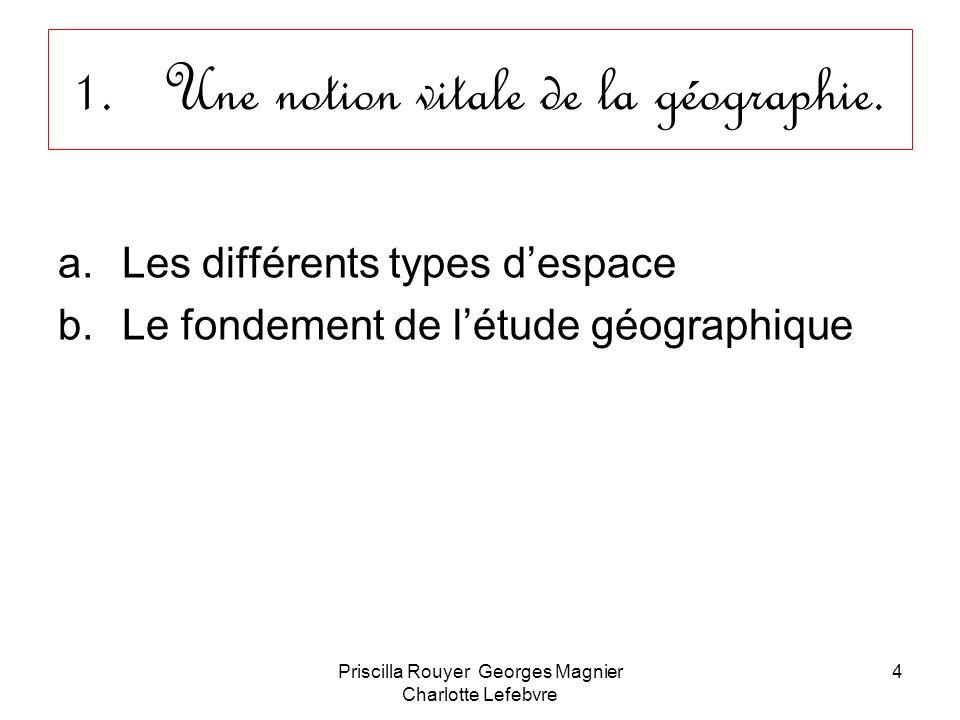 Une notion vitale de la géographie.