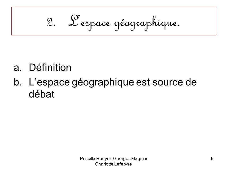 L'espace géographique.