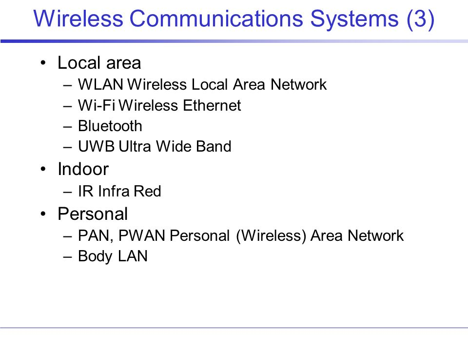 Wireless Communications Systems (3)