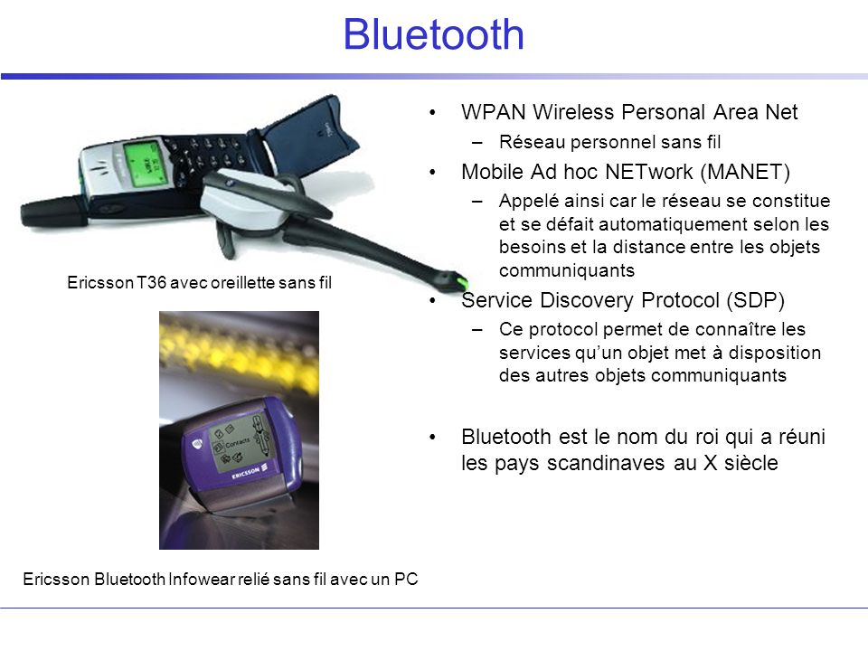 Bluetooth WPAN Wireless Personal Area Net