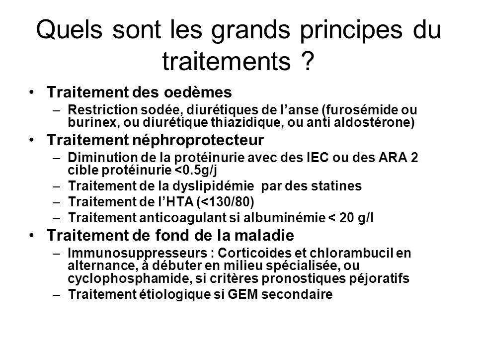 Quels sont les grands principes du traitements