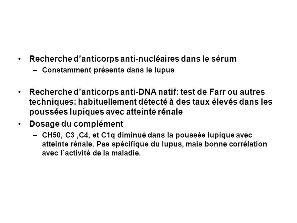 Recherche d'anticorps anti-nucléaires dans le sérum