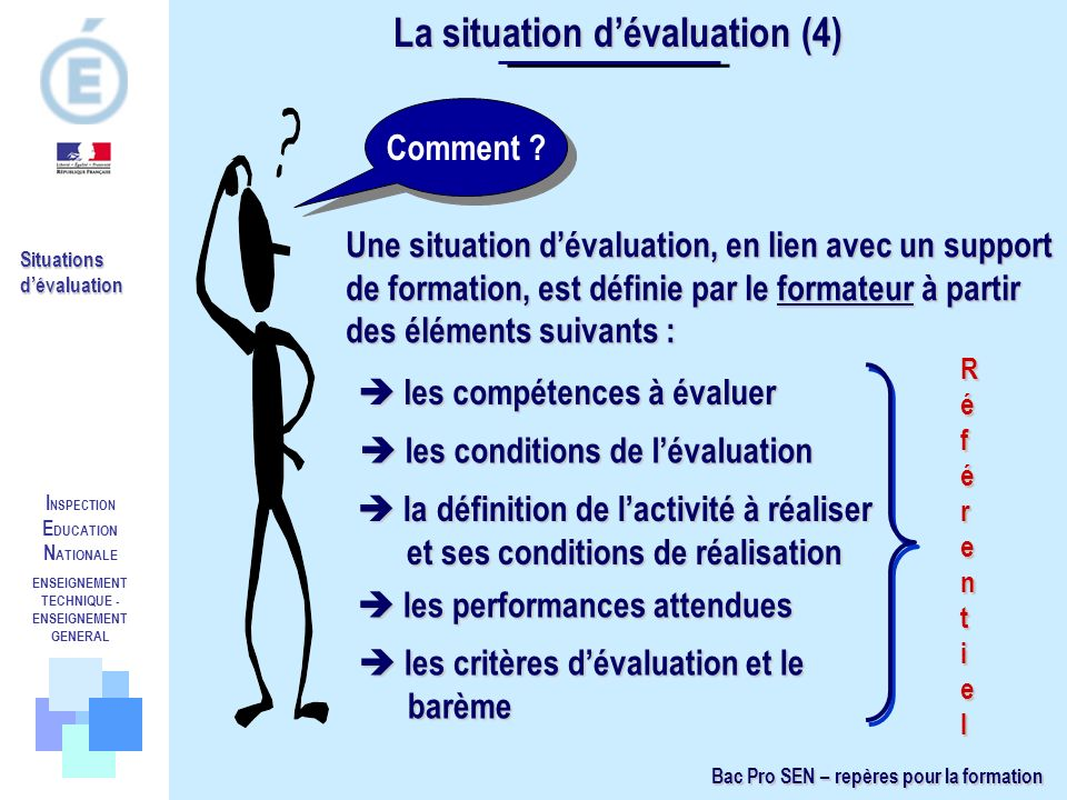 La situation d'évaluation (4)
