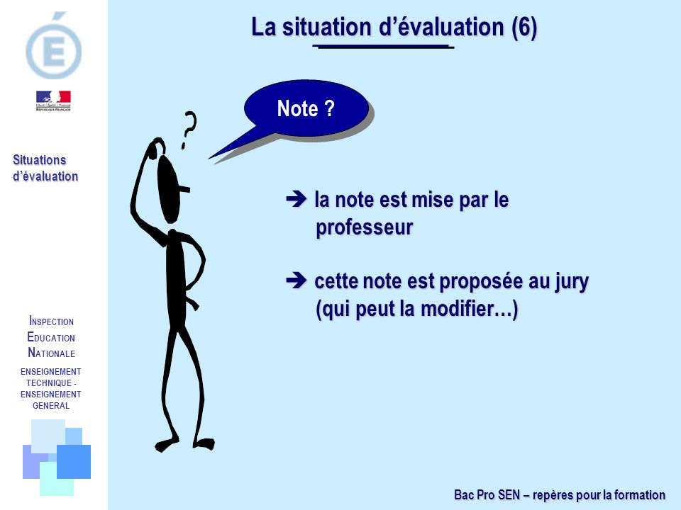 La situation d'évaluation (6)