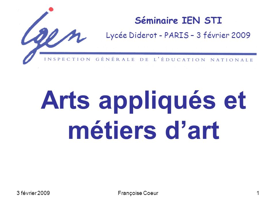 Arts appliqués et métiers d'art
