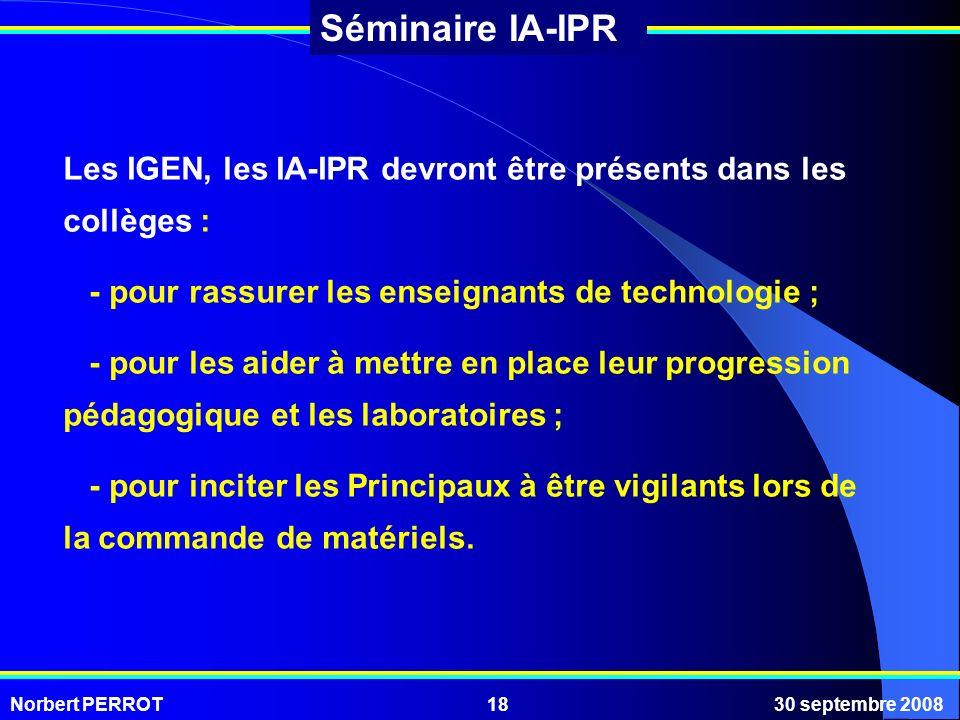 Les IGEN, les IA-IPR devront être présents dans les collèges :