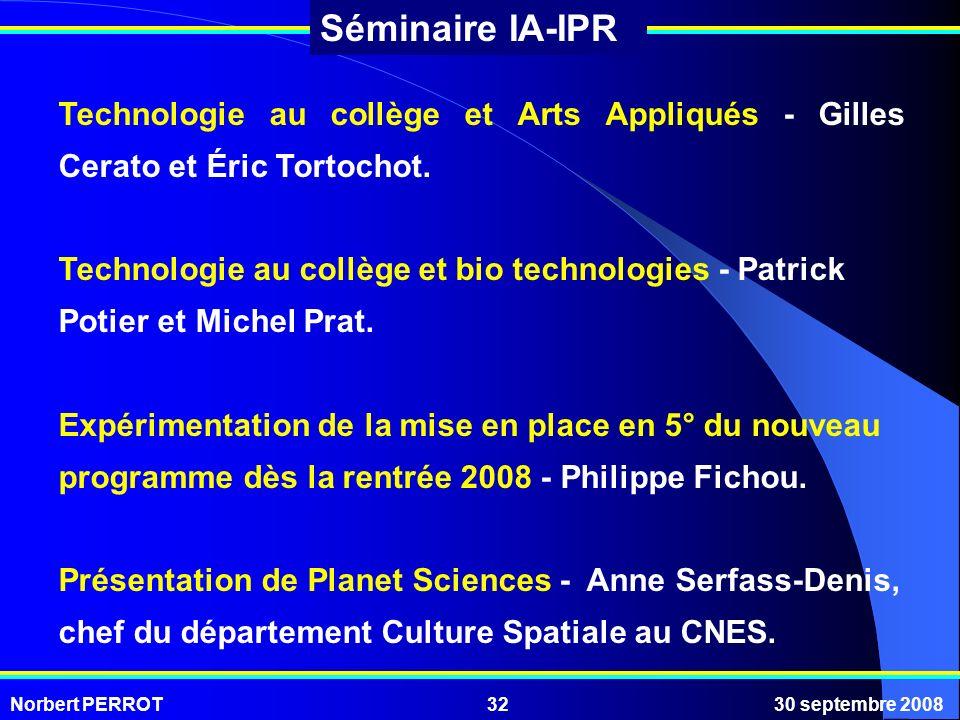 Technologie au collège et Arts Appliqués - Gilles Cerato et Éric Tortochot.