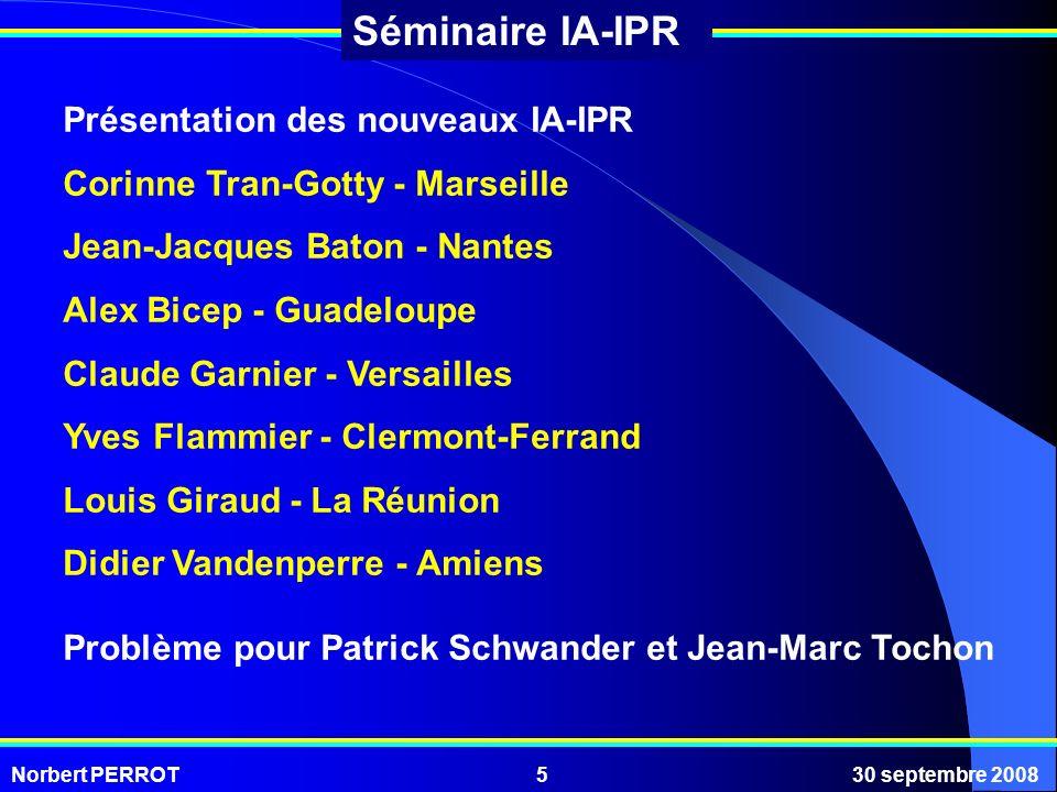 Présentation des nouveaux IA-IPR