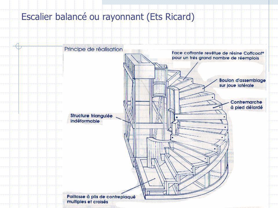 Escalier balancé ou rayonnant (Ets Ricard)